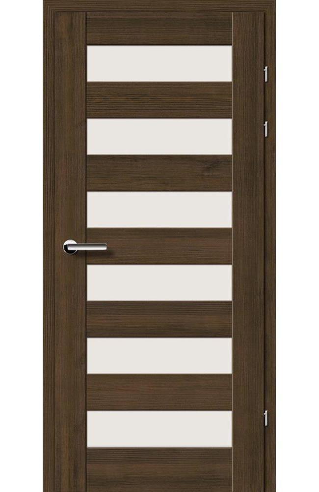 Двері 19.46 Брама мокка скло Сатін