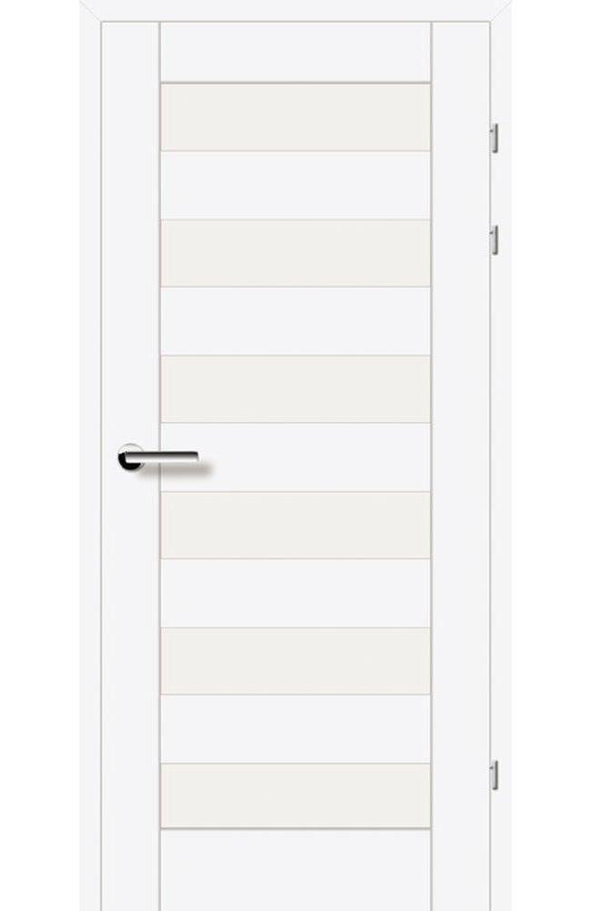 Двері 19.46 Брама білий гладкий скло Сатін
