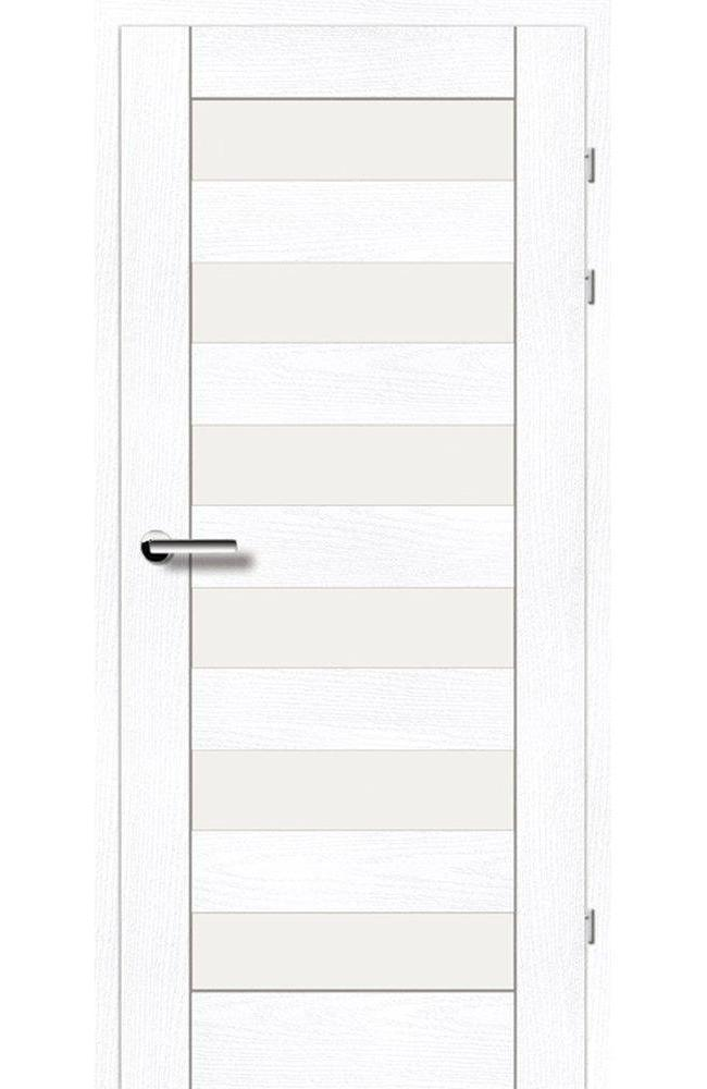 Двері 19.46 Брама ясень альпійський скло Сатін
