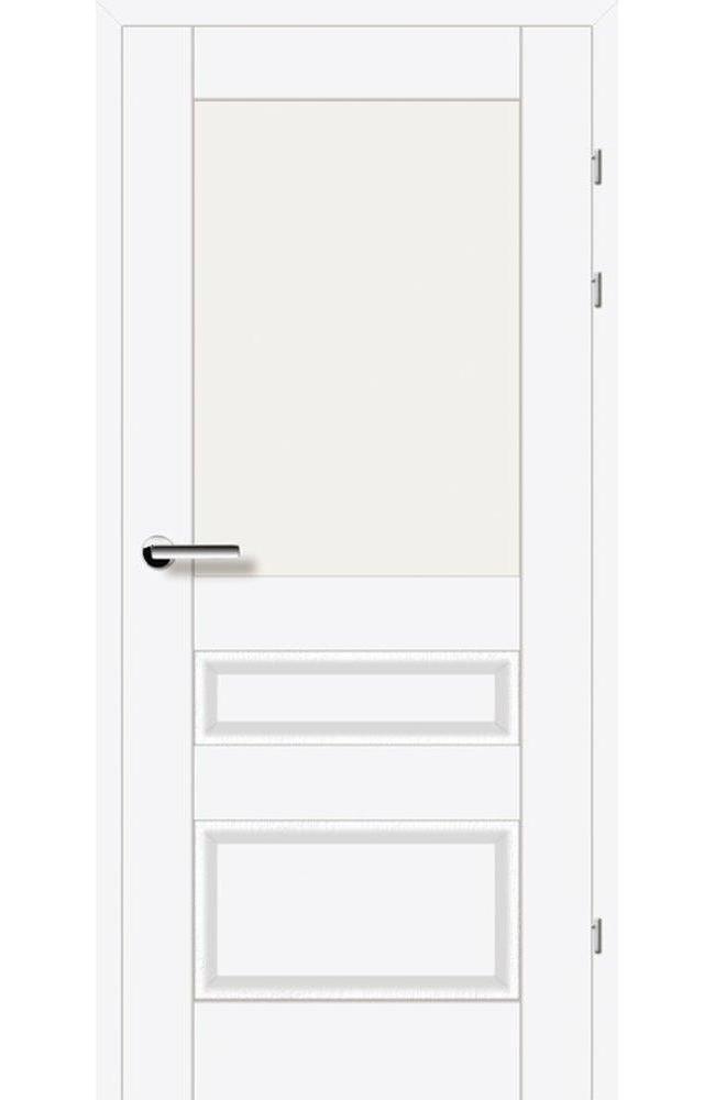 Двери 19.51 Брама белый премиум стекло Сатин