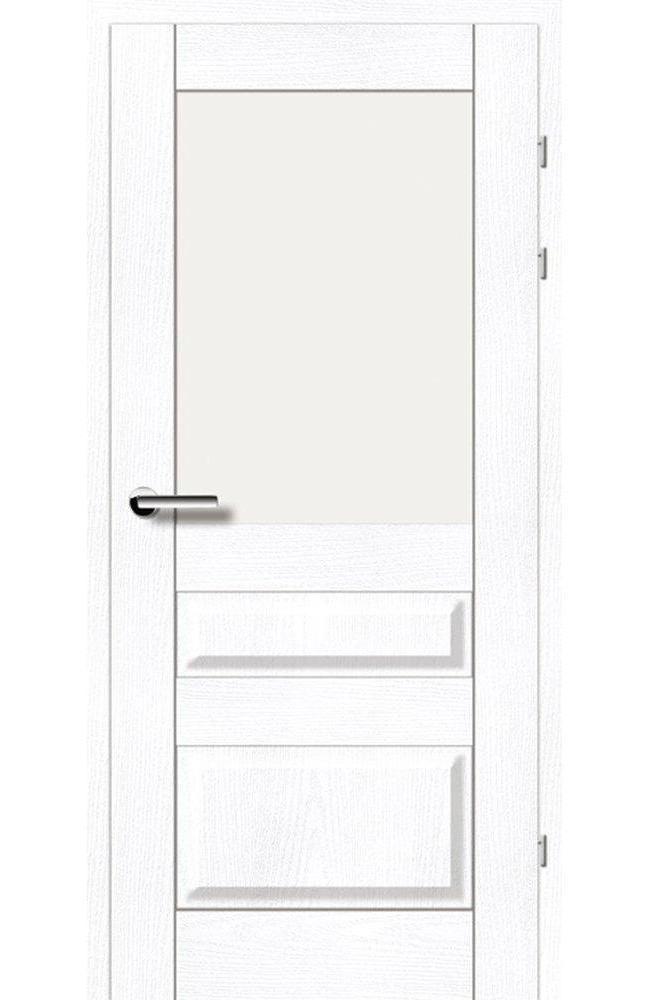 Двері 19.51 Брама ясень альпійський скло Сатін