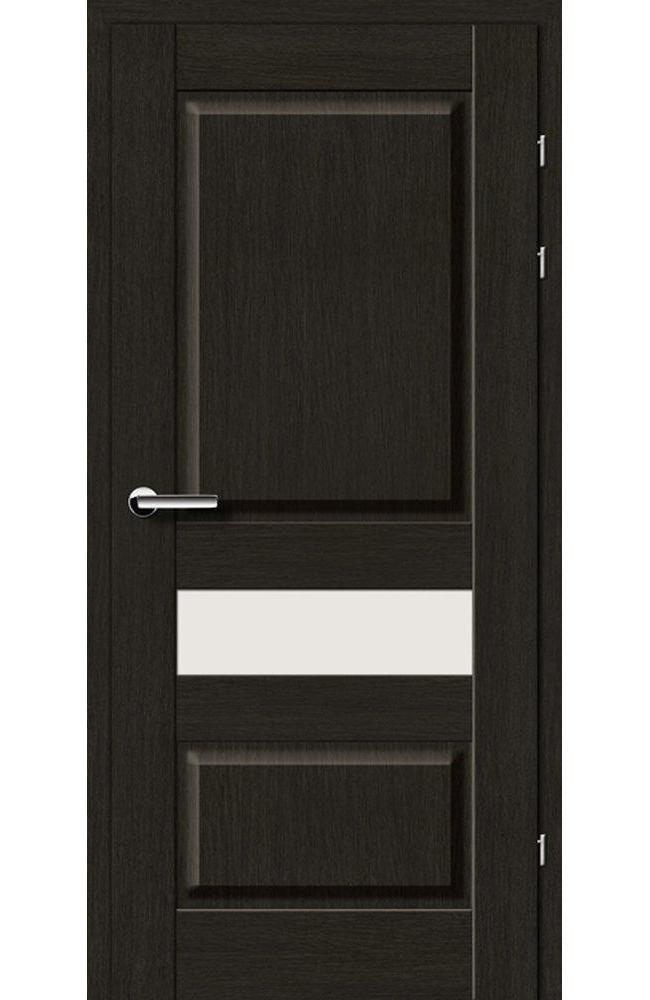 Двері 19.54 Брама чорний дуб скло Сатін