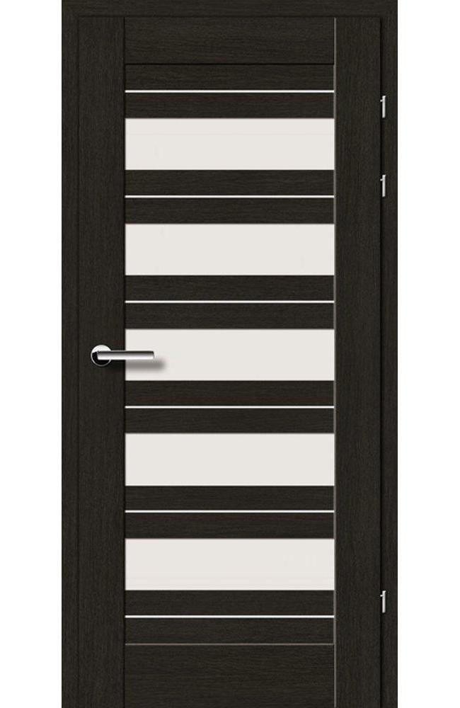Двері 19.5 Брама чорний дуб скло Сатін