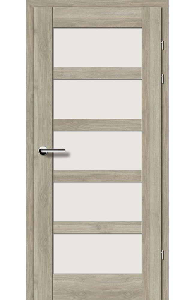 Двері 19.85 EuroDoors Брама горіх сірий скло Сатін