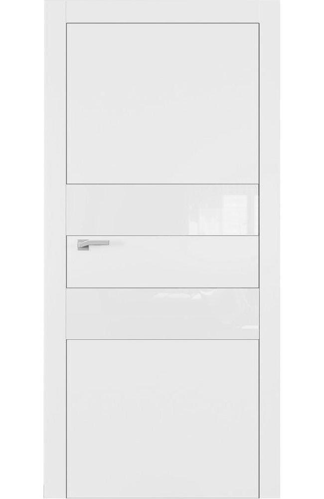 Двери А2 Art Vision Омега белый мат стекло белое
