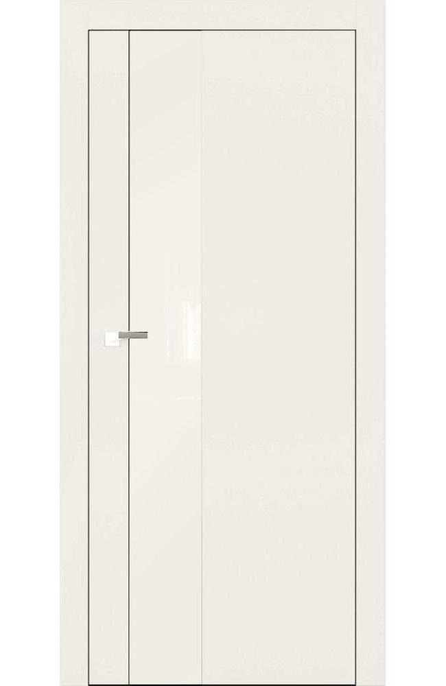 Двери А3 Art Vision Омега слоновая кость стекло белое