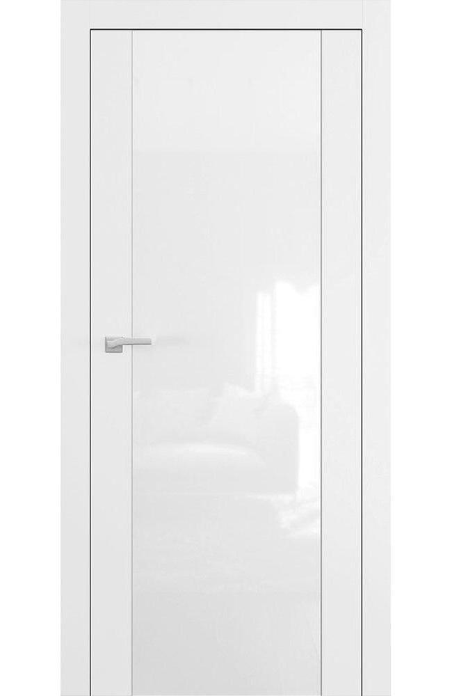 Двери А4 Art Vision Омега белый мат стекло белое