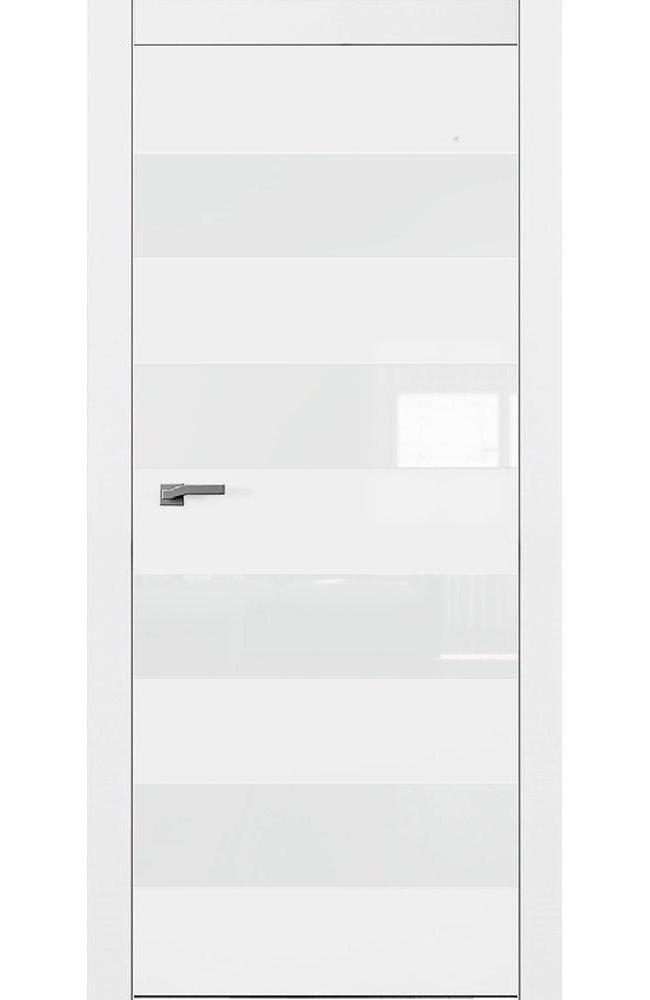Двери А5 Art Vision Омега белый мат стекло белое