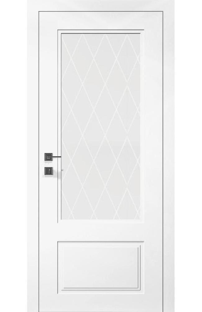 Двери Cortes Galant Родос белая эмаль со стеклом - Межкомнатные двери — фото №1