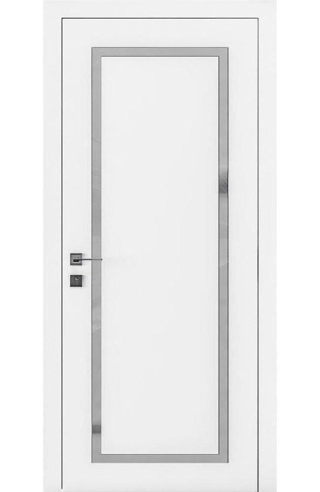 Двери Loft Porto-2 Родос белая эмаль стекло Сатин - Межкомнатные двери — фото №1