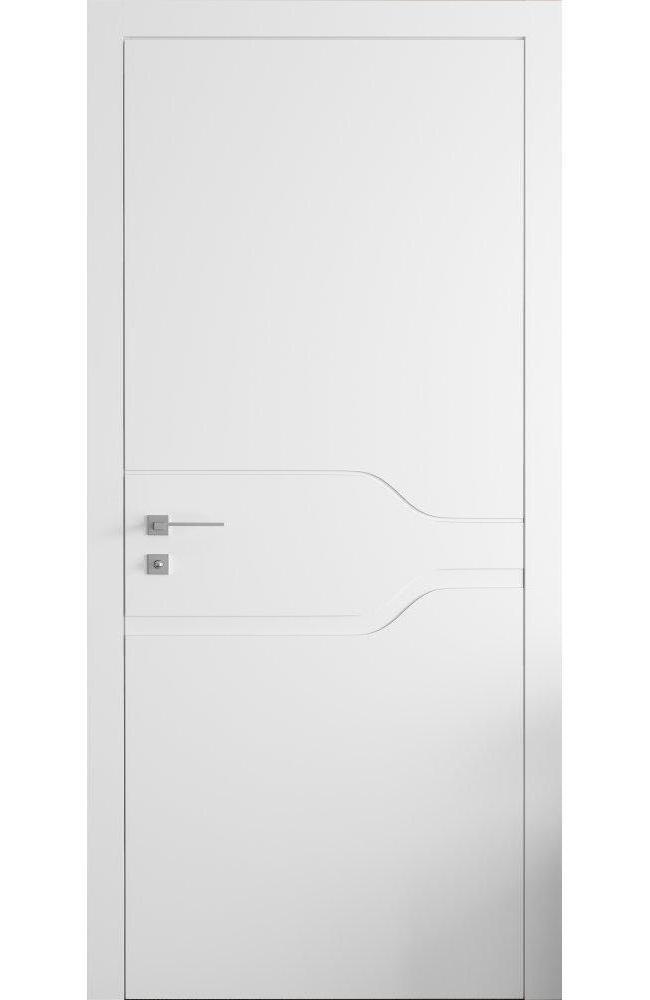 Двери Cortes Prima фрезеровка № 12 Родос белая эмаль глухое