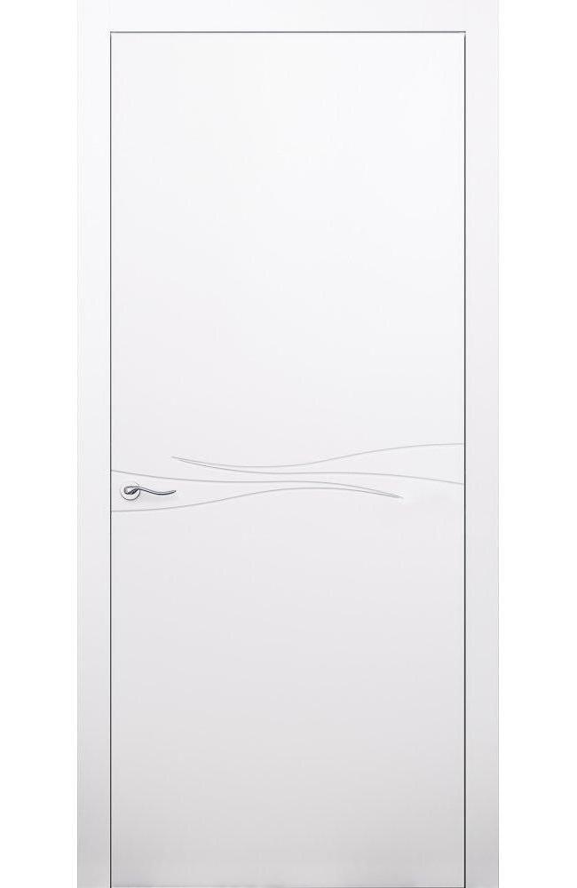 Двери Cortes Prima фрезеровка № 2 Родос белая эмаль глухое