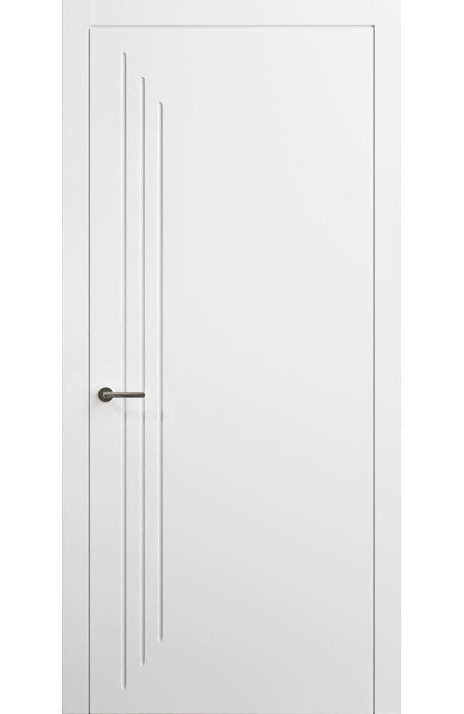 Двери Cortes Prima фрезеровка № 4 Родос белая эмаль глухое