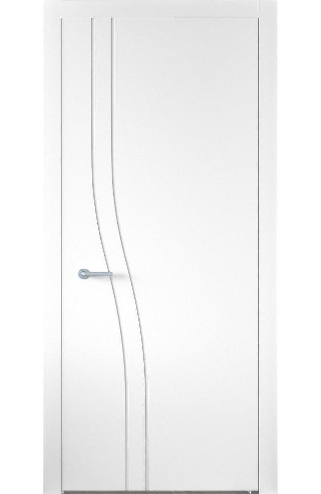 Двери Cortes Prima фрезеровка № 7 Родос белая эмаль глухое