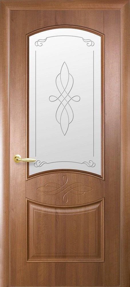 Двери Донна Новый Стиль золотая ольха делюкс со стеклом Р1