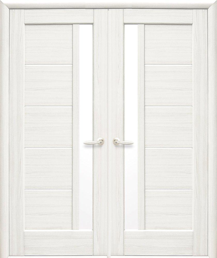 Двері Грета Новий Стиль ясень делюкс скло Сатін