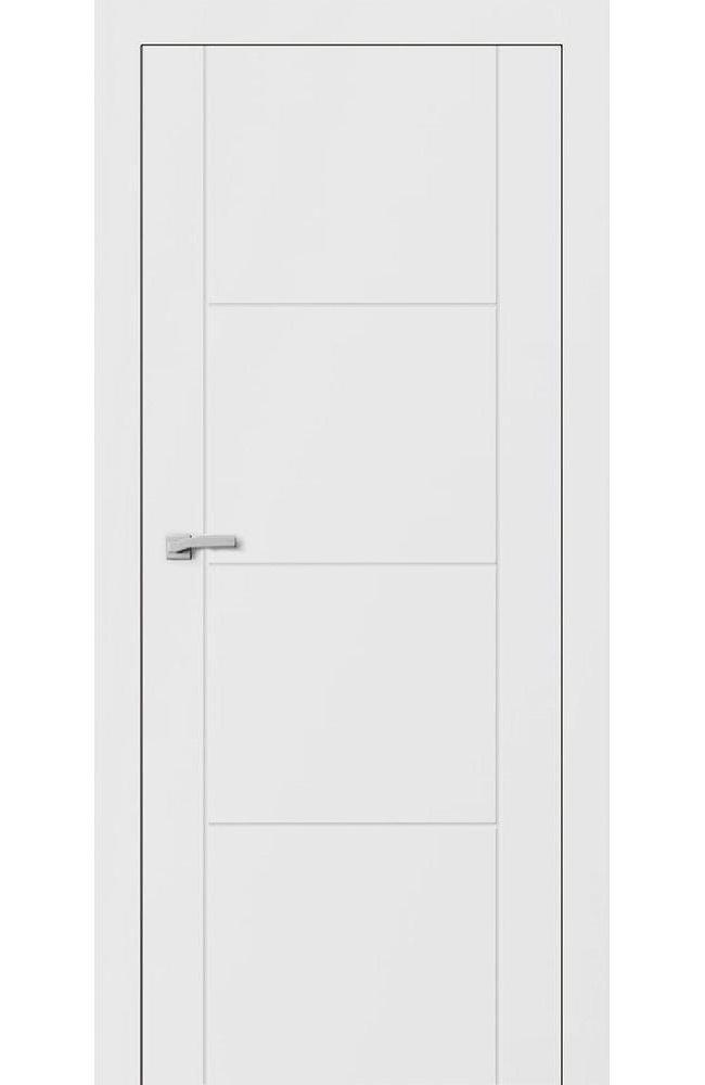 Двери F2 Lines Омега белый мат глухое
