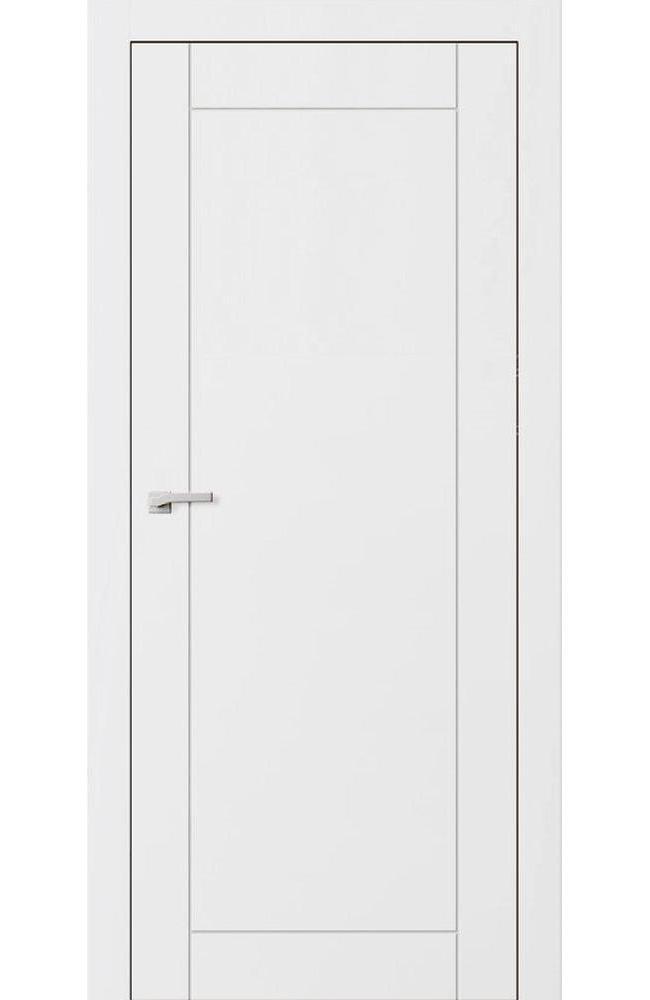 Двери F6 Lines Омега белый мат глухое