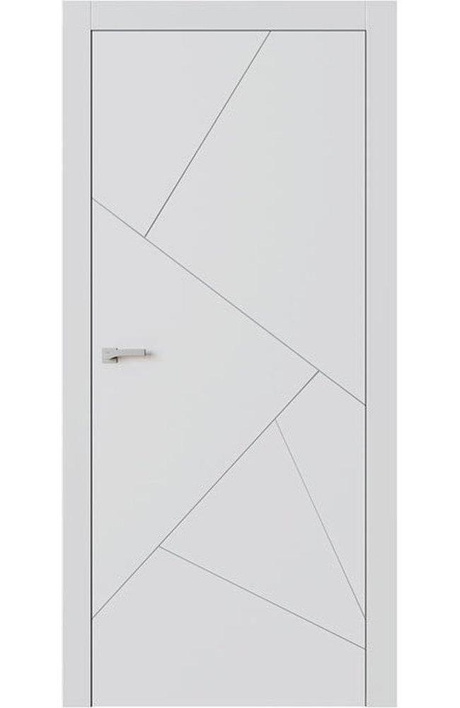 Двери F9 Lines Омега белый мат глухое