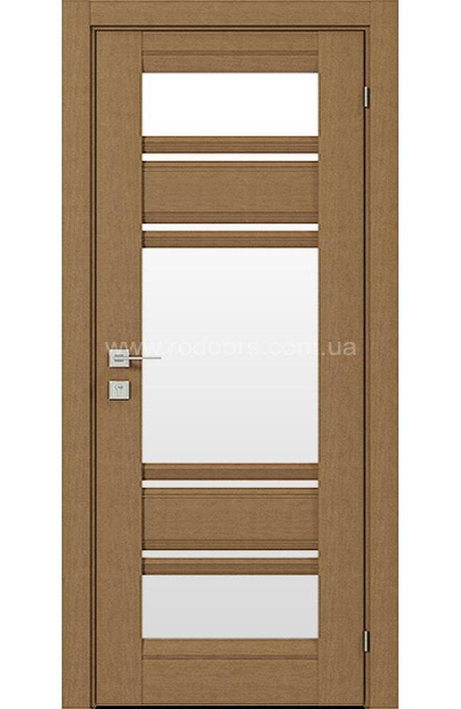 Двери Fresca Donna Родос меранти со стеклом