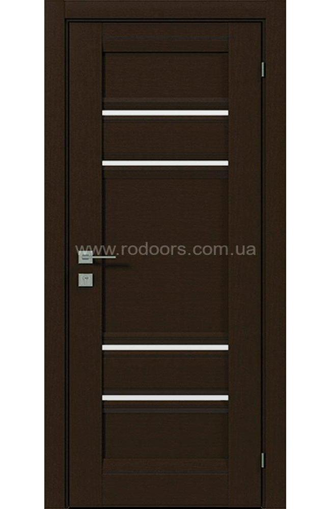 Двери Fresca Donna Родос орех борнео полустекло