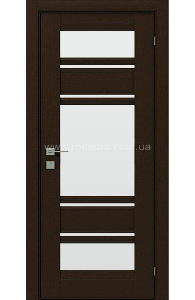 Двери Fresca Donna Родос орех борнео со стеклом