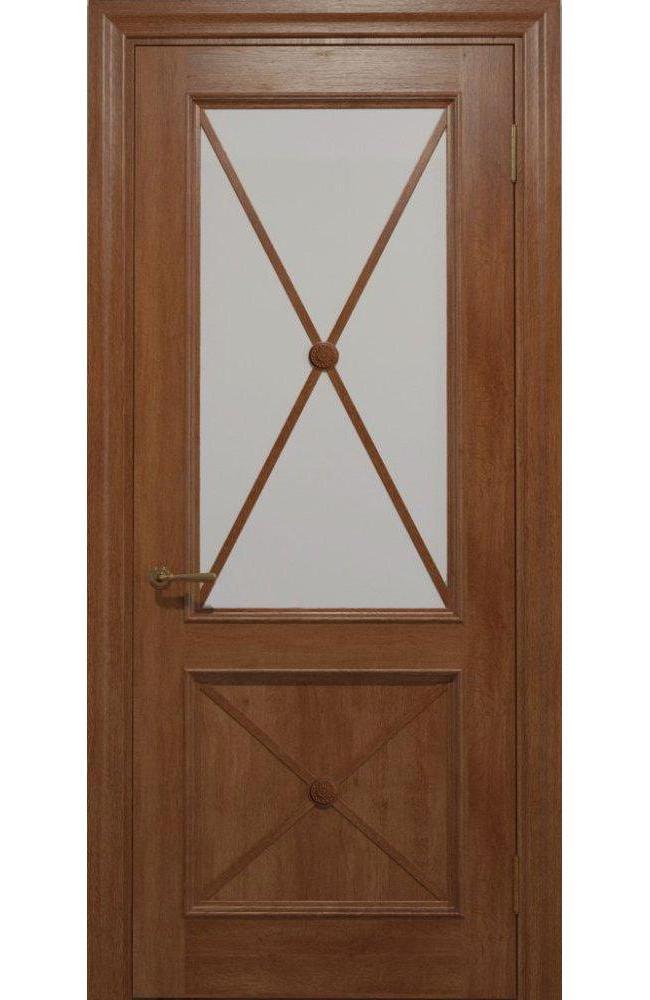 Двери Golden Cross C-12.S01 Статус Дорс карамельный стекло Сатин