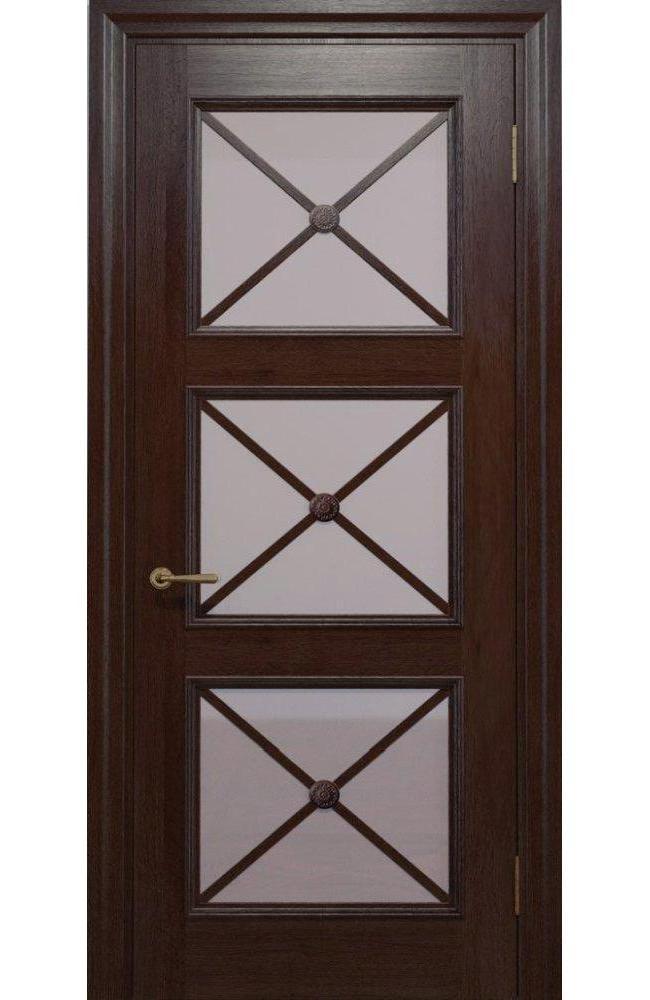 Двери Golden Cross C-22.S02 Статус Дорс мокко стекло бронза