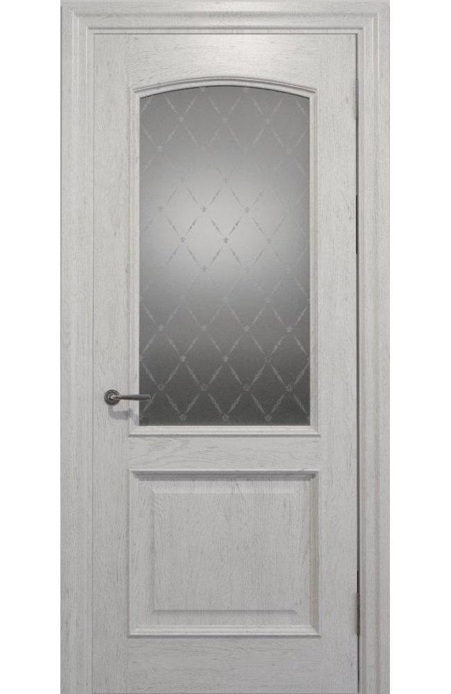 Двери Golden Elegante E-012.1 Статус Дорс белые стекло-1 ромбы белые