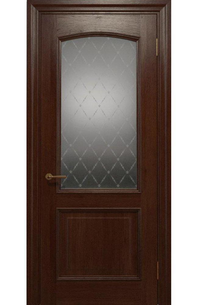 Двери Golden Elegante E-012.1 Статус Дорс шоколадный стекло-1 ромбы белые