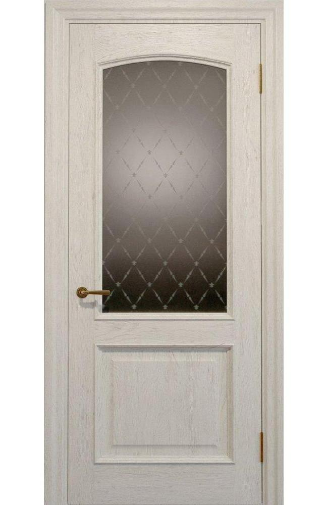Двери Golden Elegante E-012.2 Статус Дорс слоновая кость стекло-2 ромбы бронза