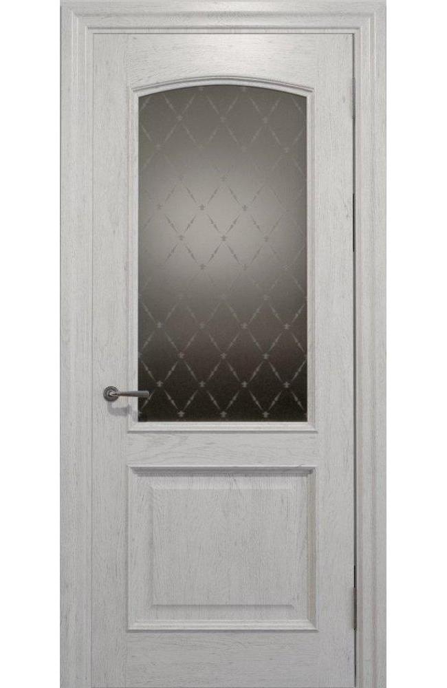 Двери Golden Elegante E-012.2 Статус Дорс белоснежный стекло-2 ромбы бронза