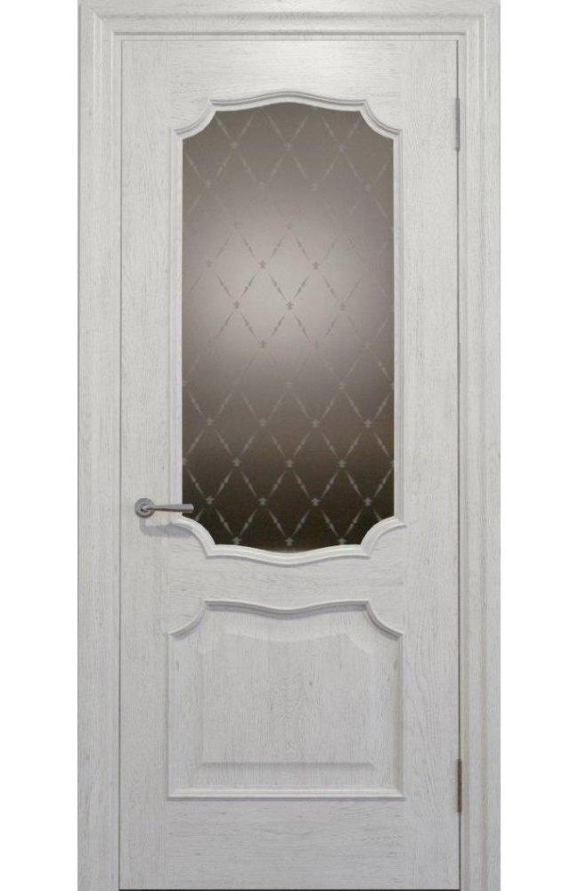 Двери Golden Elegante E-22.2 Статус Дорс белые стекло-2 ромбы бронза
