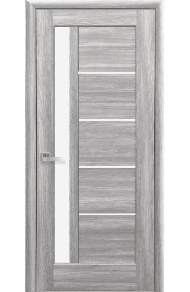 Двери Грета Новый Стиль бук пепельный делюкс стекло Сатин - Межкомнатные двери — фото №1