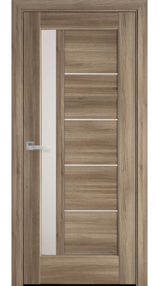 Двери Грета Новый Стиль дуб золотой делюкс стекло Сатин - Межкомнатные двери — фото №1