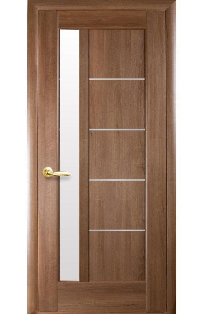 Двери Грета Новый Стиль золотая ольха делюкс стекло Сатин - Межкомнатные двери — фото №1