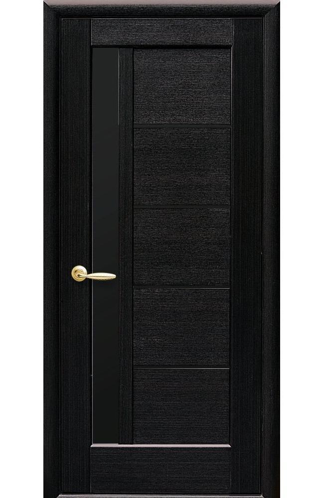 Двери Грета Новый Стиль венге делюкс стекло черное - Межкомнатные двери — фото №1