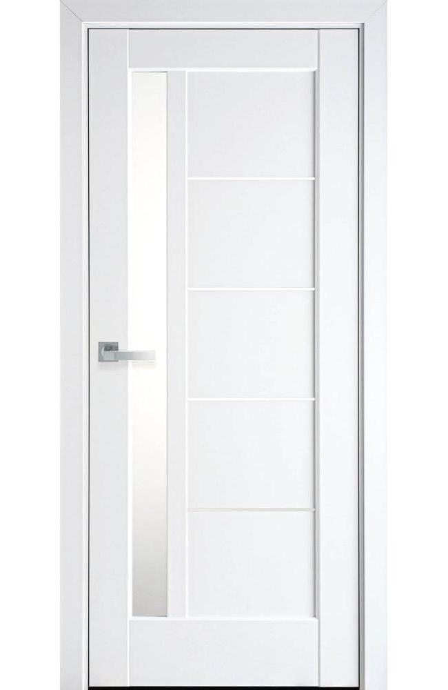 Двери Грета Новый Стиль белый мат премиум стекло Сатин - Межкомнатные двери — фото №1