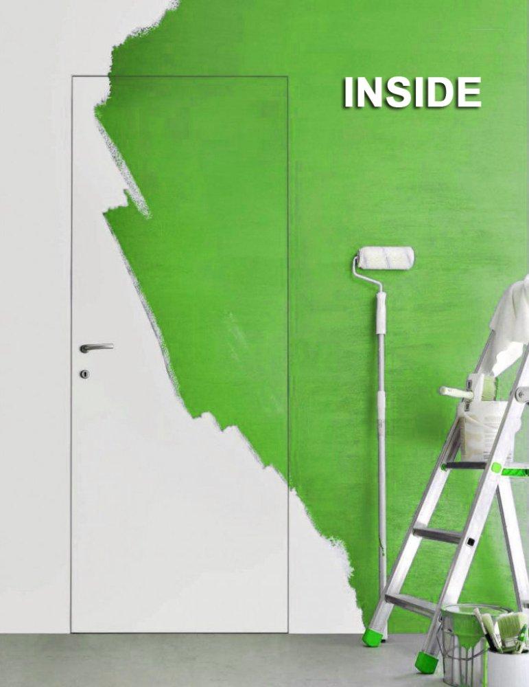 Двери скрытого монтажа INSIDE под покраску Invisible - Межкомнатные двери — фото №1