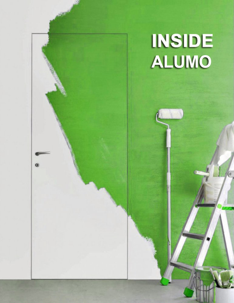 Двери скрытого монтажа INSIDE грунтованные с четвертью с алюминиевыми торцами Astori - Межкомнатные двери — фото №1