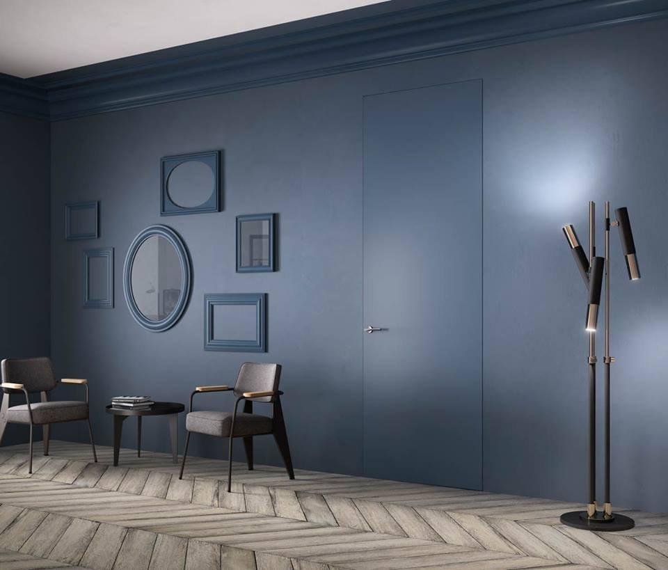 Двери скрытого монтажа серые с покраской эмалью ral 7001 Invisible - Межкомнатные двери — фото №1