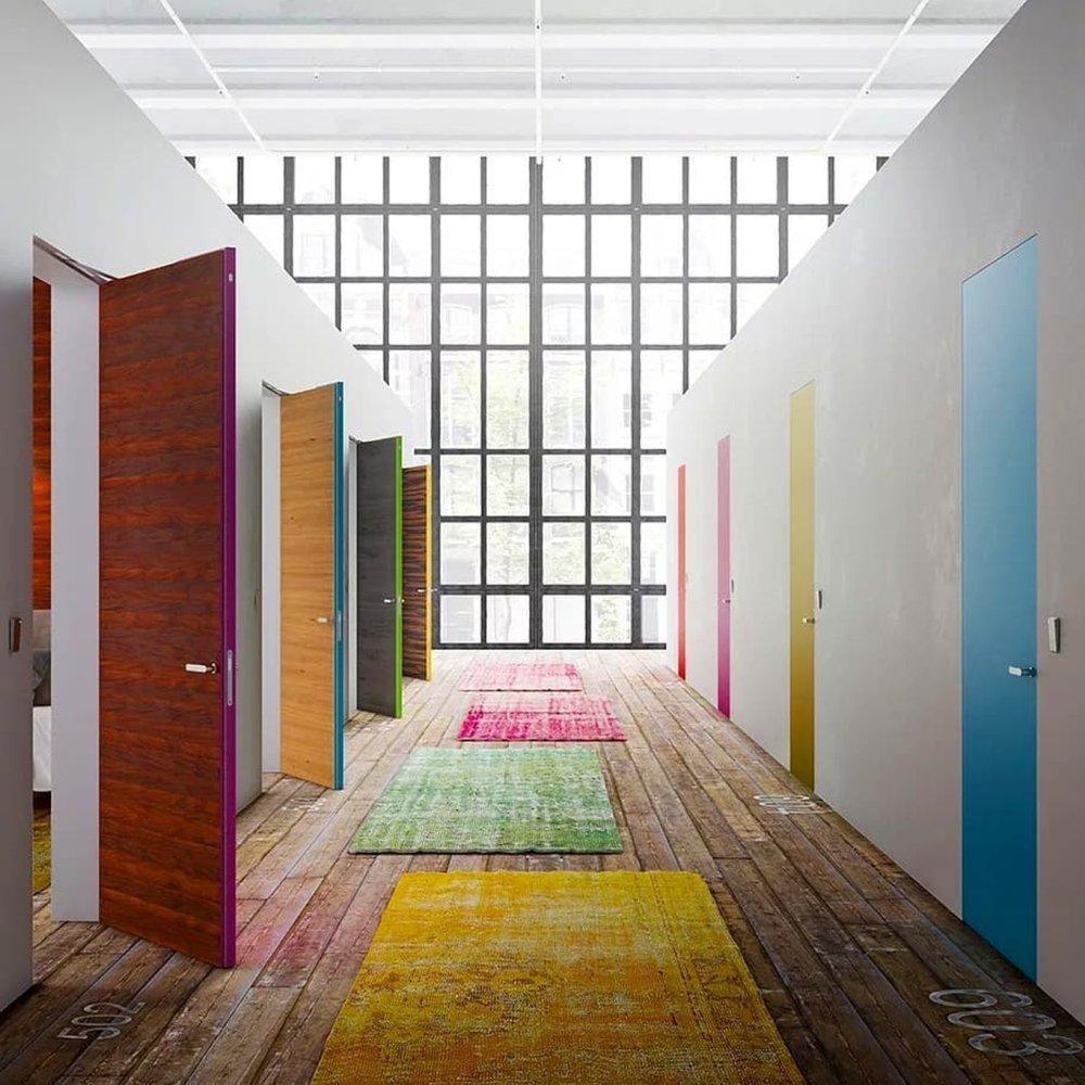 Двері прихованого монтажу Colors