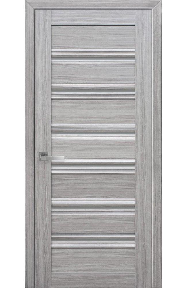 Двери Венеция Новый Стиль жемчуг серебряный стекло С1 графит - Межкомнатные двери — фото №1