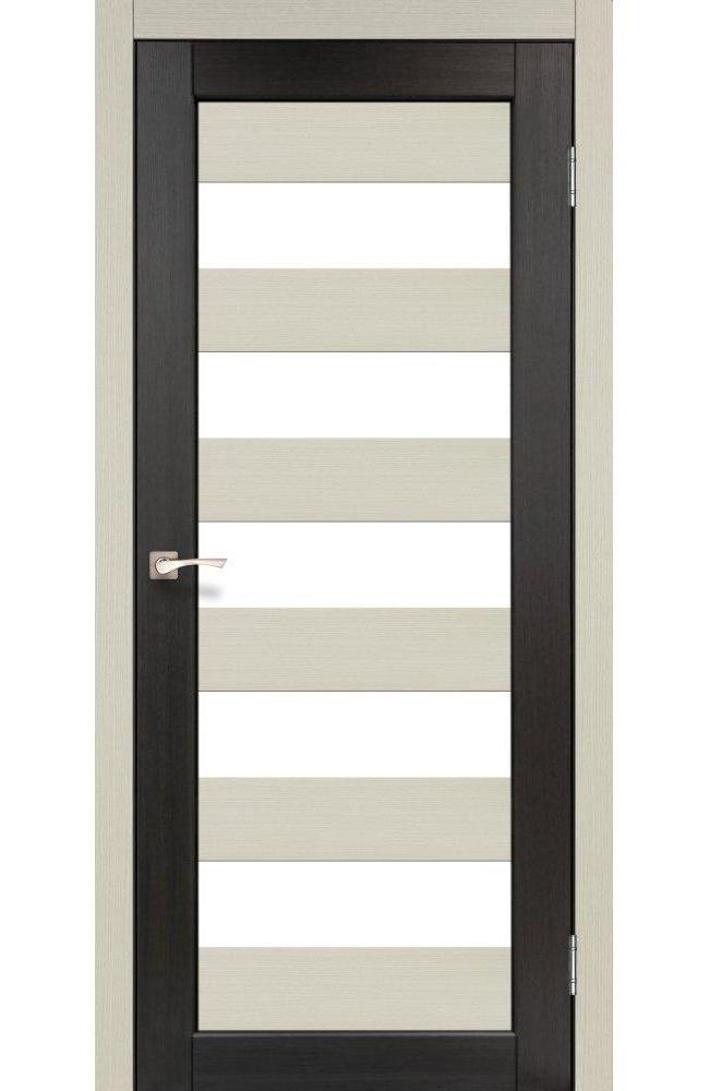 Двери Porto Combi Colore PC-04 Корфад беленый дуб стекло Сатин - Межкомнатные двери — фото №1