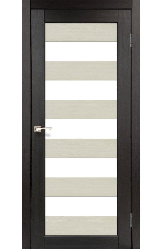 Двери Porto Combi Colore PC-04 Корфад венге стекло Сатин - Межкомнатные двери — фото №1