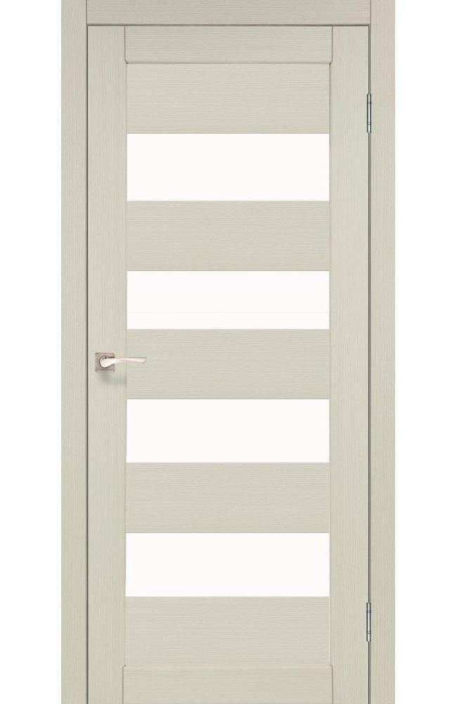 Двери Piano Deluxe PND-02 Корфад беленый дуб стекло Сатин - Межкомнатные двери — фото №1