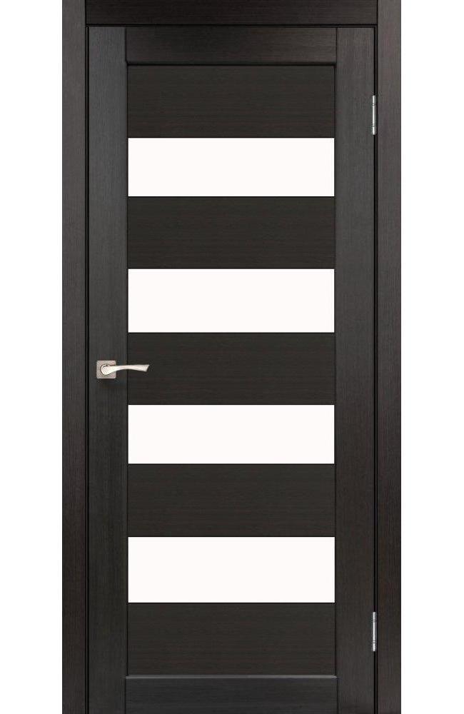 Двери Piano Deluxe PND-02 Корфад венге стекло Сатин - Межкомнатные двери — фото №1