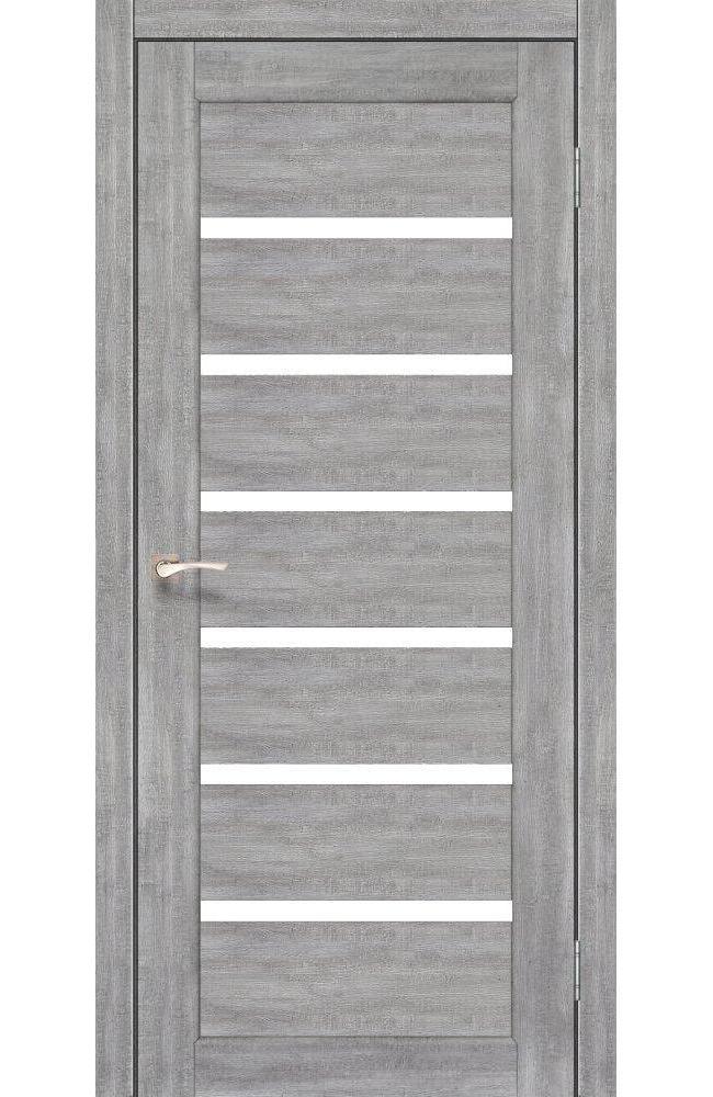 Двери Porto PR-01 Корфад эш вайт стекло Сатин