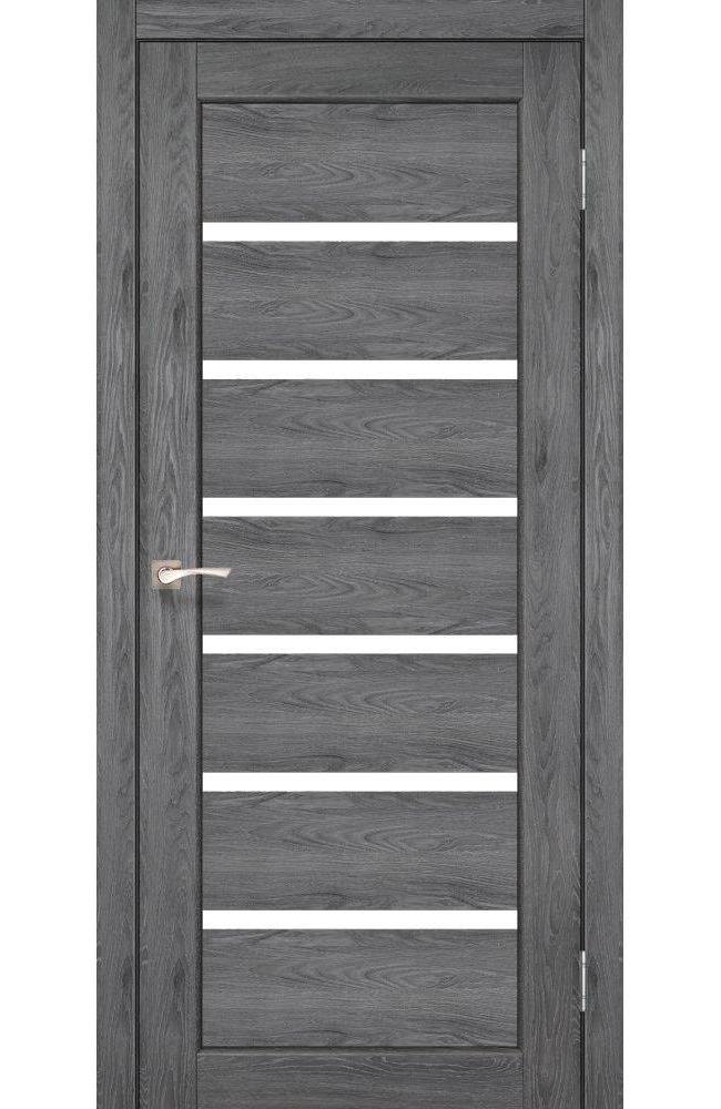 Двери Porto PR-01 Корфад дуб марсала стекло Сатин - Межкомнатные двери — фото №1