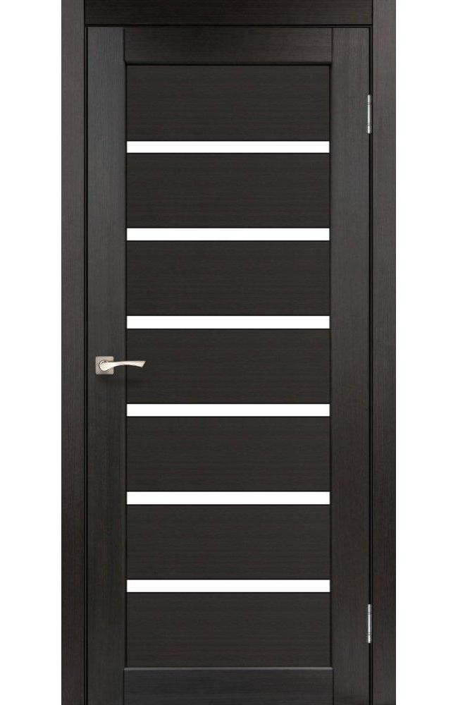 Двери Porto PR-01 Корфад венге стекло Сатин - Межкомнатные двери — фото №1